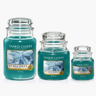 Icy blue spruce Bougies Jarres collection noel yankee candle sparkle holiday