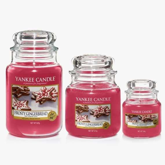 Frosty Gingerbread Bougies Jarres Noel Yankee Candle Sparkle holiday