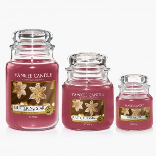 Glittering star Bougies Jarres noel yankee candle sparkle holiday