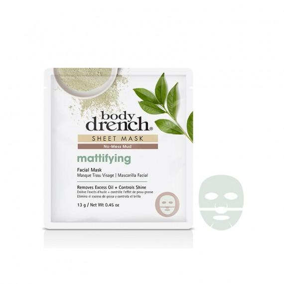 Body Drench Masque Tissu No-Mess Mud Mattiffying