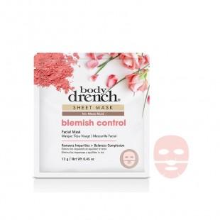 Body Drench Masque Tissu No-Mess Mud Blemish Control