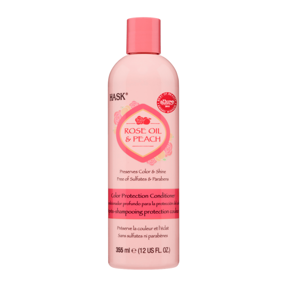 Hask Rose Oil & Peach Après Shampoing Protection Couleur