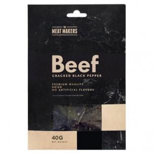 Meat Makers Gourmet Cracked Black Pepper Beef