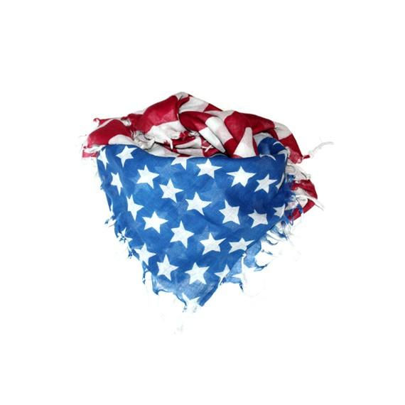 Foulard-US-FLAG-Franges