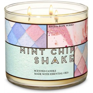 Bath & Body Works Mint Chip Shake Bougie 3 Mèches