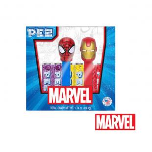 Coffret PEZ MARVEL Spider-Man & Iron Man