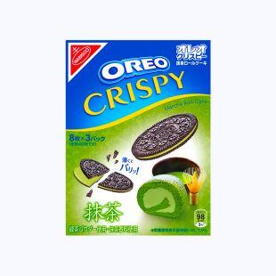 Oreo Crispy Matcha Roll-Cake