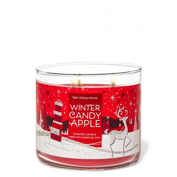 Winter Candy Apple Bougie 3 Mèches
