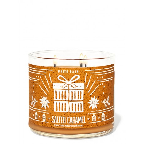 Salted Caramel Bath & Body Works Bougie 3 Mèches