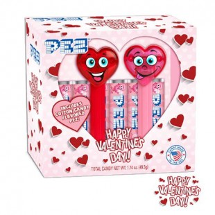 Coffret PEZ Happy Hearts Import USA