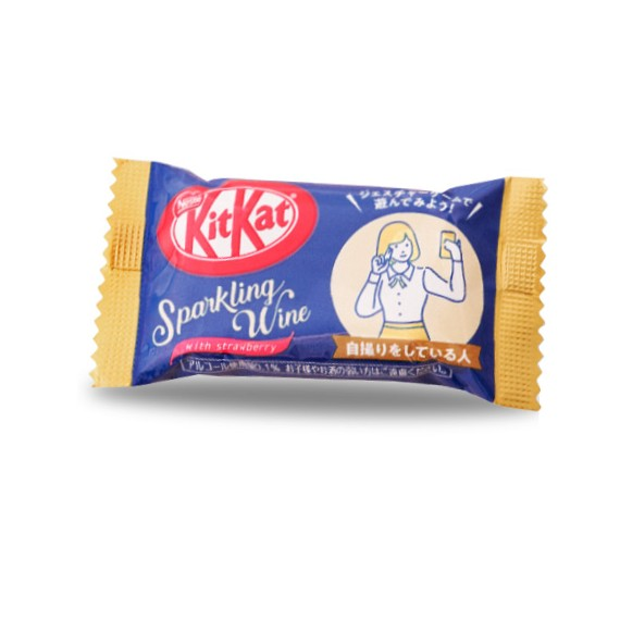 Kit Kat Mini Sparkling Wine With Strawberry - Yummy Mix
