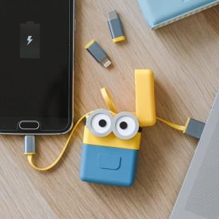 Minions Cable Rétractable 3-en-1 PowerSquad