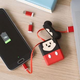 Mickey Cable Rétractable 3-en-1 PowerSquad