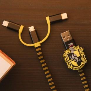 Harry Potter Hogwarts Poufsouffle Scarf Cable de Charge