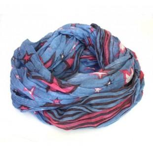 foulard Tube bleu étoilé