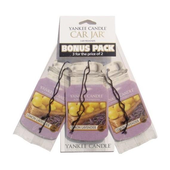 Yankee Candle Car Jar Lemon Lavender x3