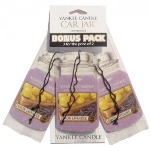 Yankee Candle Car Jar Lemon Lavender x3