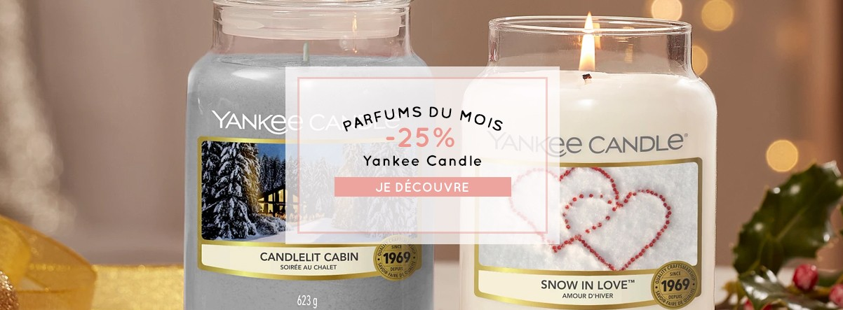 Promo parfums du mois yankee candle